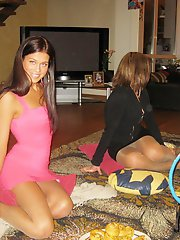 12 pictures - Sitting upskirts at parties